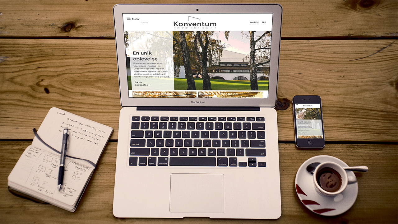 The re-vamped Konventum website. Also, my workspace almost looks like this… Almost.